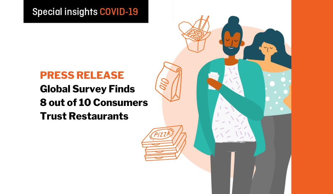 Revenue Management Solutions' Global Survey Finds 8 out of 10 Consumers Trust Restaurants